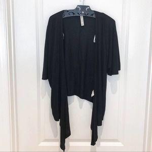 Kische Black Short Sleeve Open Cardigan P Small